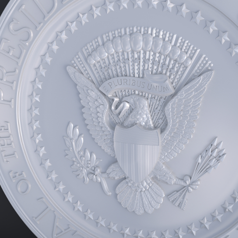 3D Printable replica of the Presidential Seal