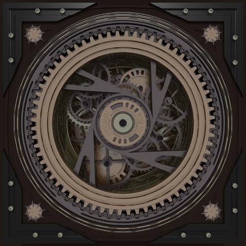 Detailed Mechanical Clock Render